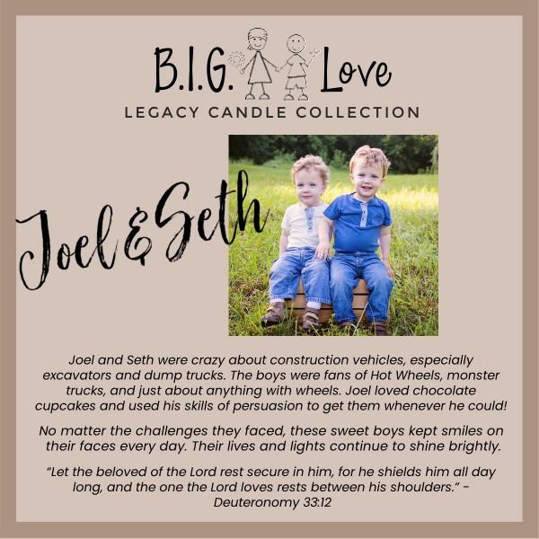 Legacy Candle: Joel • Seth