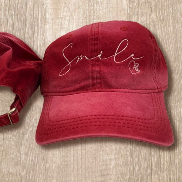 Red Smile Cap